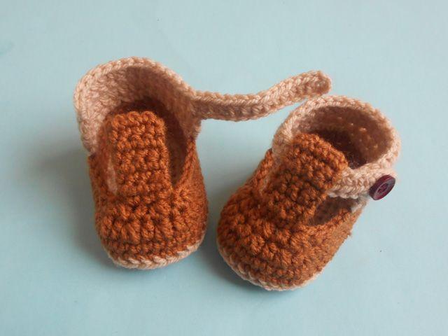 crochet baby booties free patten   Tudo para Bebês   Pinterest ...