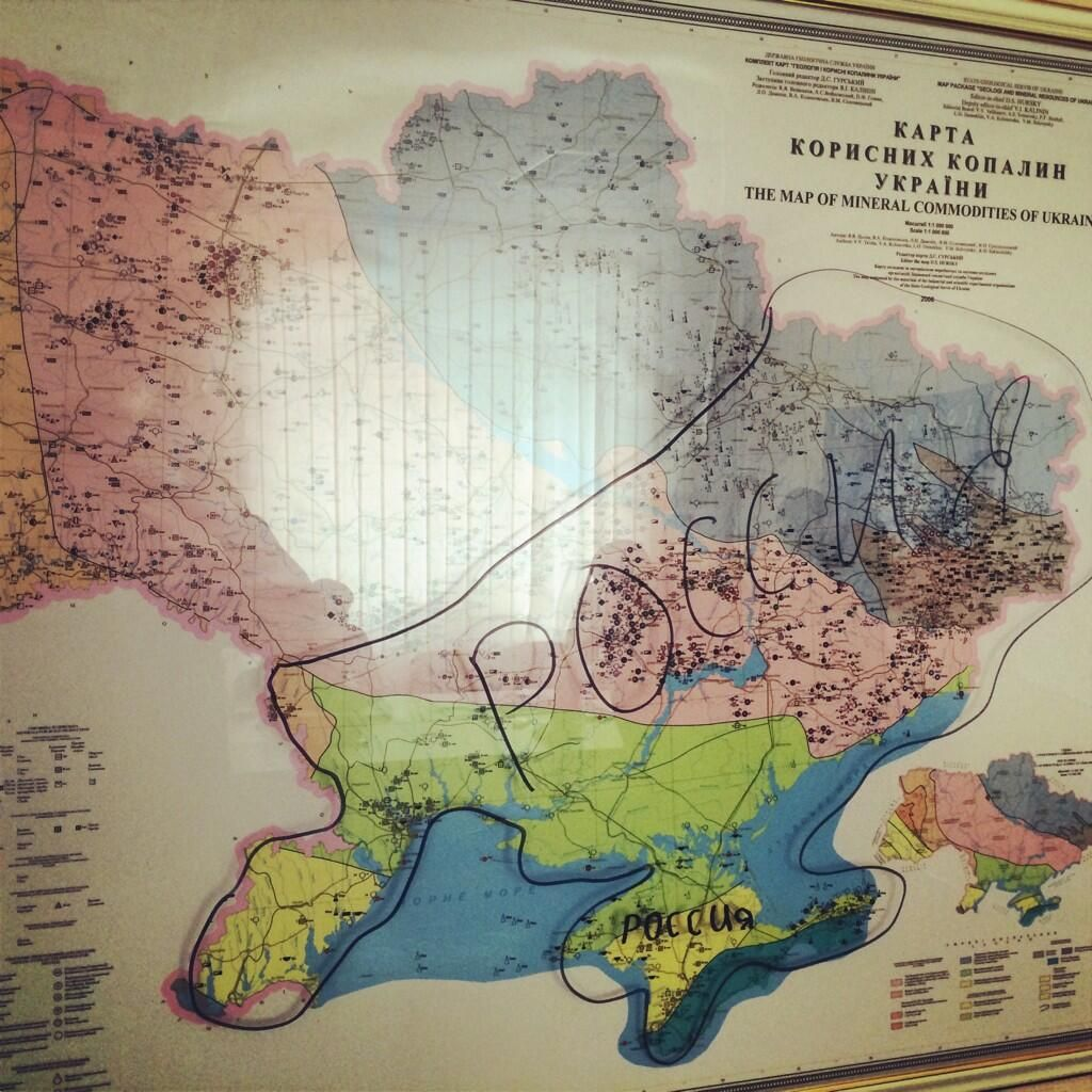12 05 Map on wall in office of