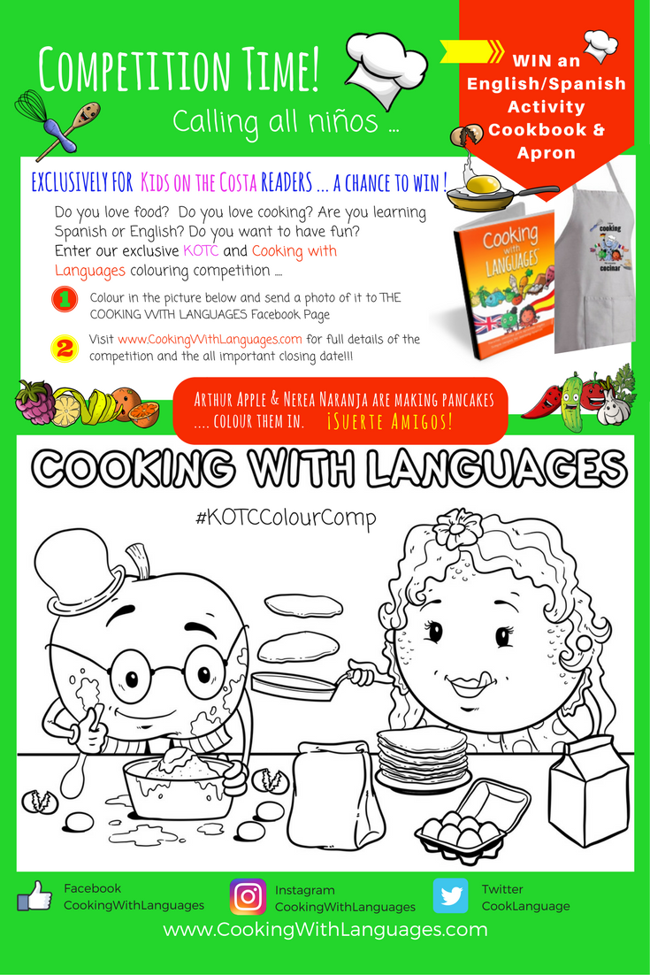 Be A Winner In Our Exclusive Colouring Competition Kotccolourcomp Spanish Activities Craft Activities For Kids Kids Learning