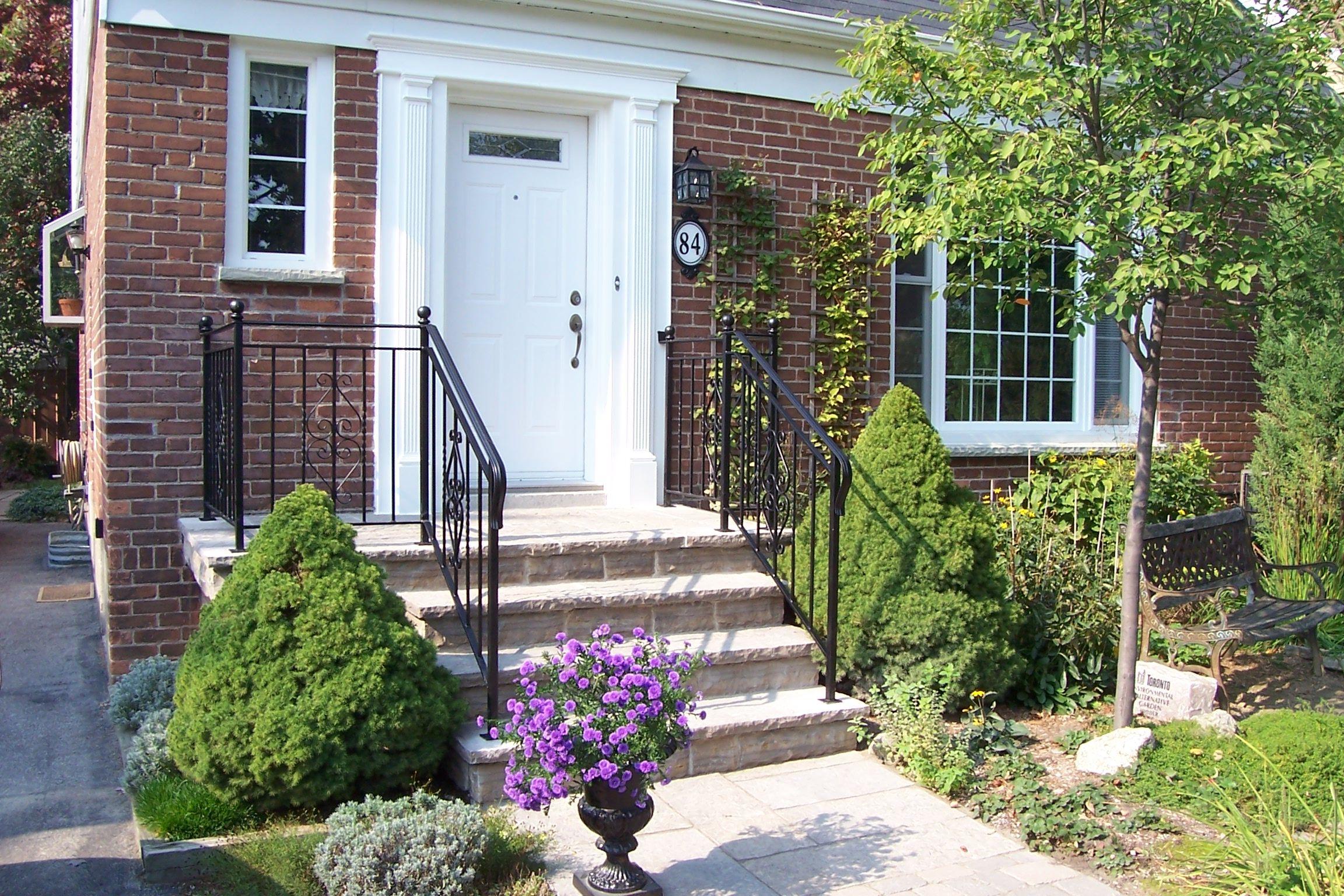 House Front Steps Porch Stone Parents