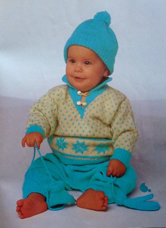 Vintage Patons Book 522 - Trendy Togs for Tiny Tots - Knitting ...
