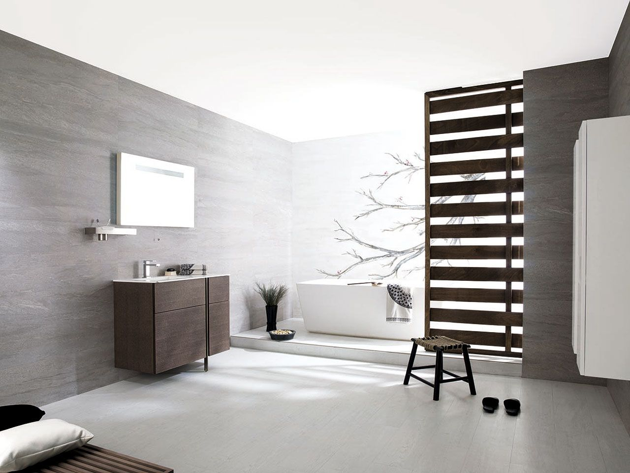 Modern wall tile by fap futura tiles for kitchen amp bathroom - Porcelanosa S Ceramic Tiles For Simple Stylish Bathroom Floor Tiles Par Ker Montana Blank Wall Tiles Madagascar Natural