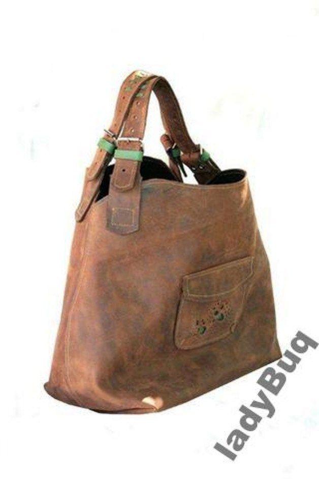 7bea87aa41e bruine lederen handtas tas handgemaakt door ladybu | Naai-ideetjes ...