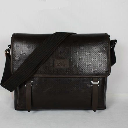Hermes Men Bag Genuine Cowhide Black 3023