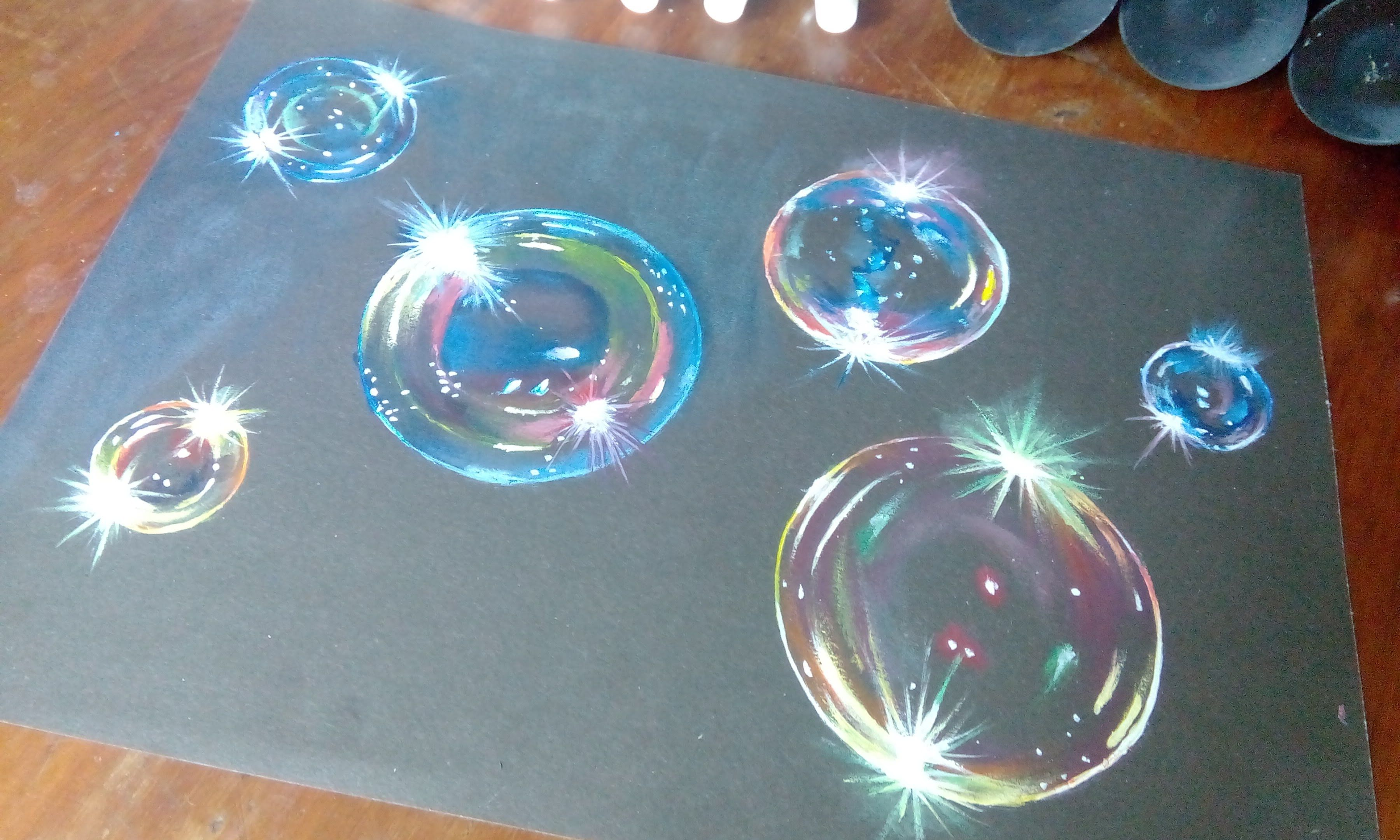 How To Paint Hyper Realistic Bubblesacrylic Painting Tutorial…
