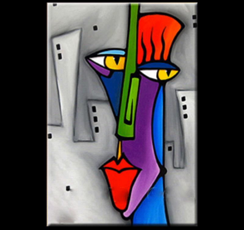 Pop Art Face Tableau Abstrait Tableau Abstrait Tableau Pop Art Portrait Abstrait