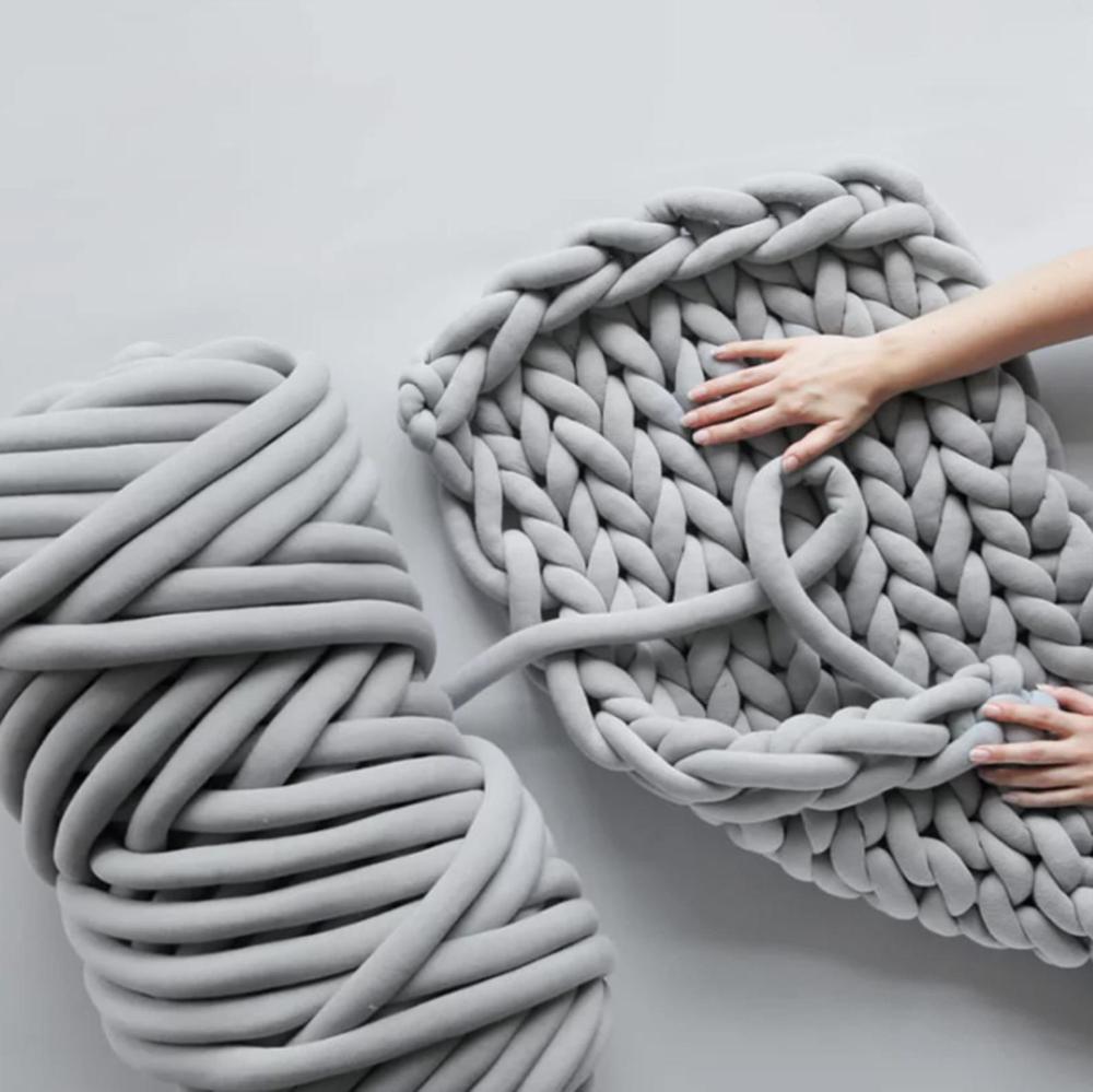 Chunky Luxe Big Yarn By Loops Threads In Grey Vozeli Com