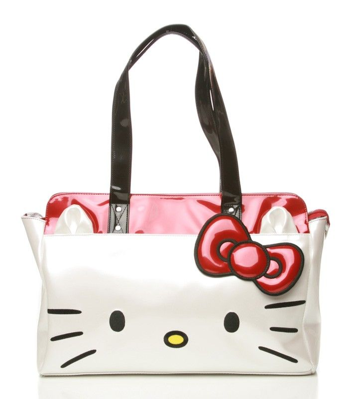 Hello Kitty Face Shoulder Bag in black!!!   Need to ask the husband ... 222304b57d