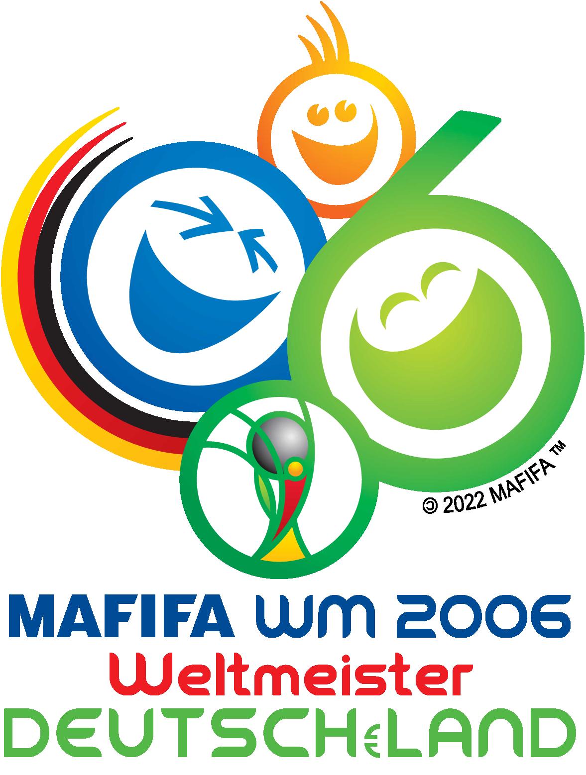 Deutschland wird FußballWeltmeister 2006 Wm logo, Fifa