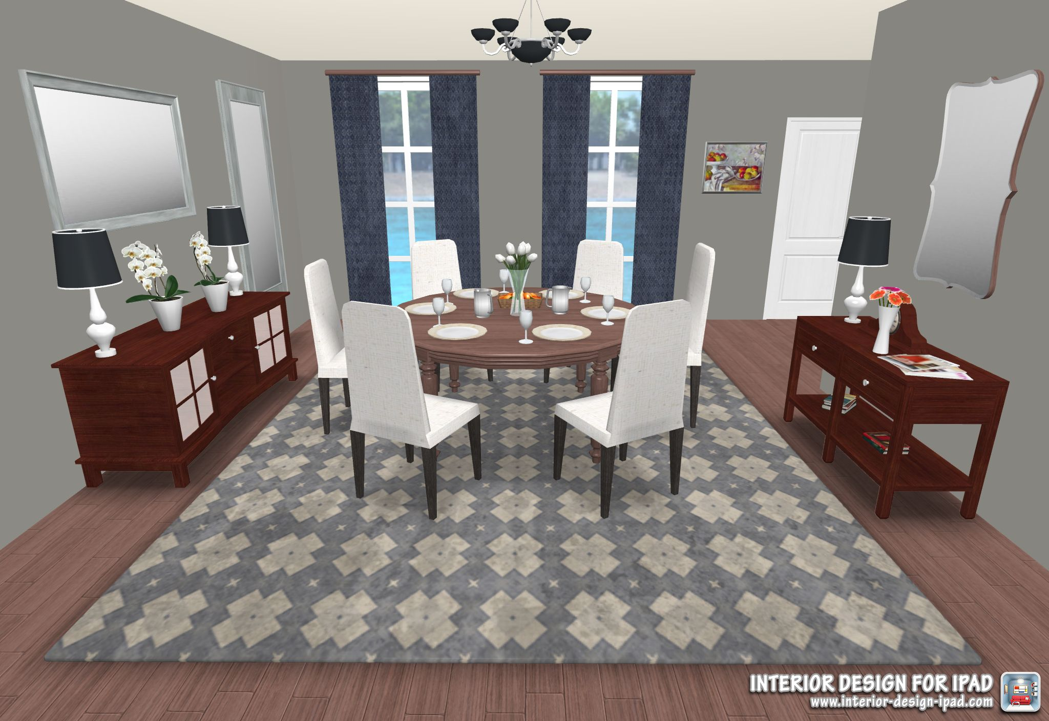 stunning dining room created with interior design app for ipad