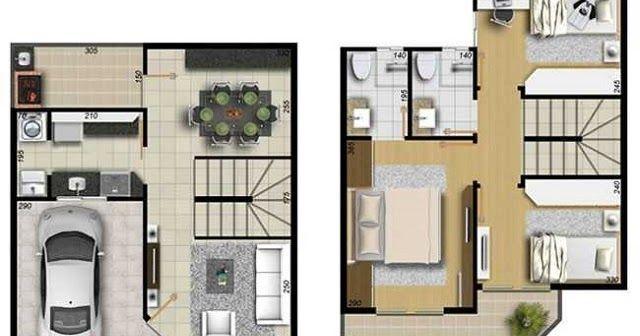 PLANO DE CASA DE 99 M2 Planos de casas, Casas, Casas