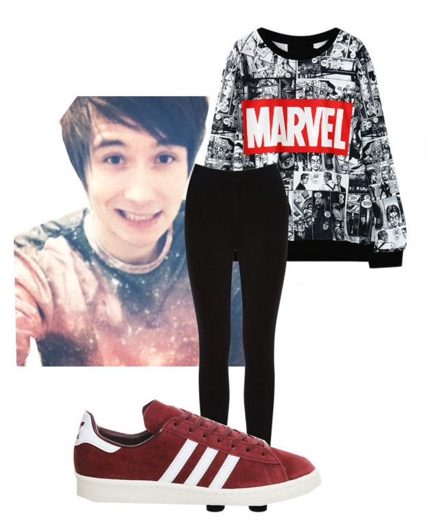 """""""Dan *-*"""" by halloichbinich ❤ liked on Polyvore featuring Oasis and adidas"""