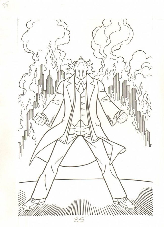 The Dark Knight Joker Coloring Pages