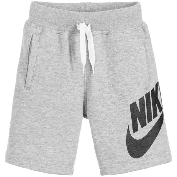 276e832d94 Nike Boys Grey Cotton Jersey Shorts ($29) ❤ liked on Polyvore featuring  shorts