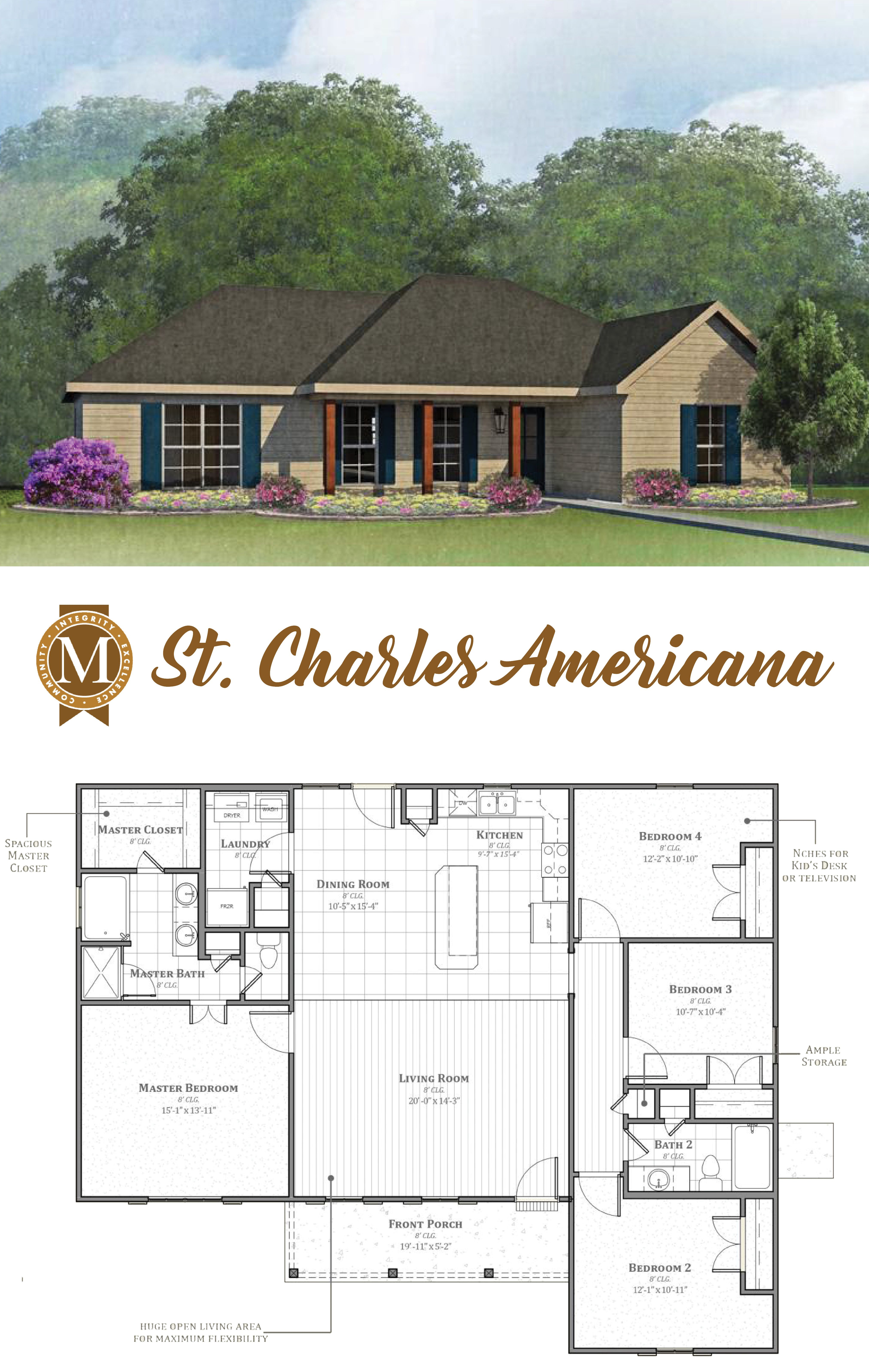 Living Sq Ft 1 710 Bedrooms 4 Baths 2 Lafayette Lake Charles Baton Rouge Louisiana House Blueprints Dream House Plans Cottage Plan