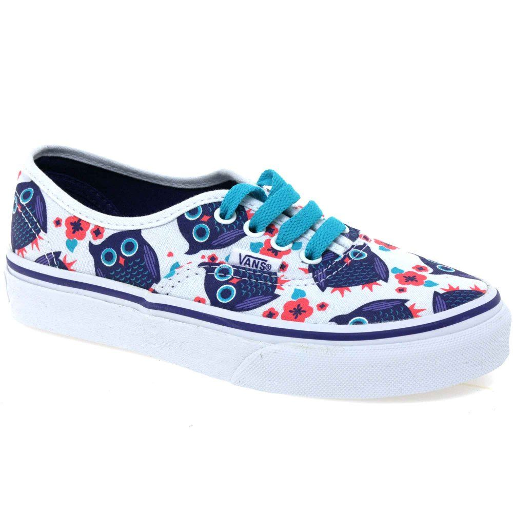 99bb5f87afc Vans Authentic Give A Hoot Girls Lace Up Canvas Shoes