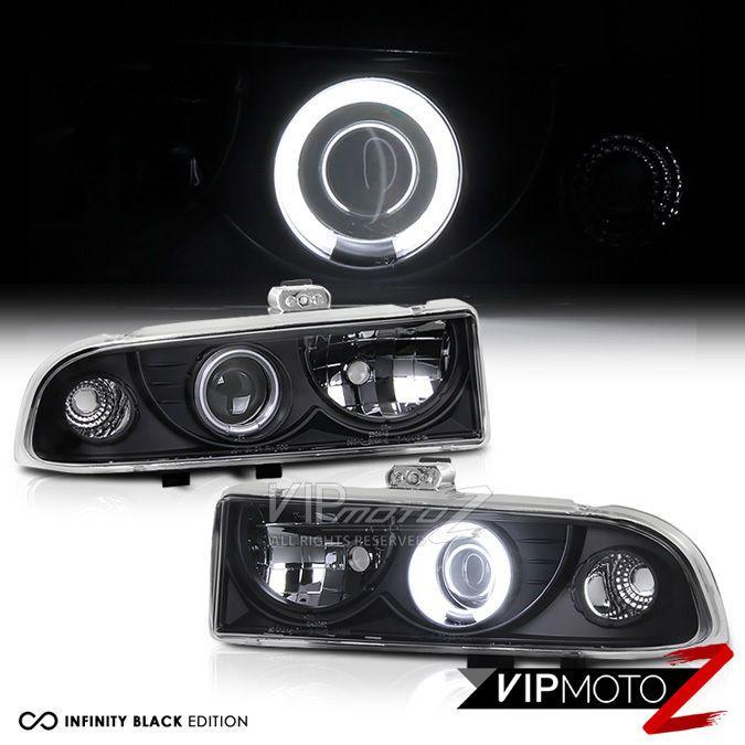 98 04 Chevy S10 Blazer Zr2 Zr5 Ccfl Halo Angel Eye Led Projector Black Headlight Vipmotoz