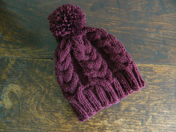 Chunky Horseshoe Cable Knit Hat Knitting Pattern | Pinterest | Cable ...