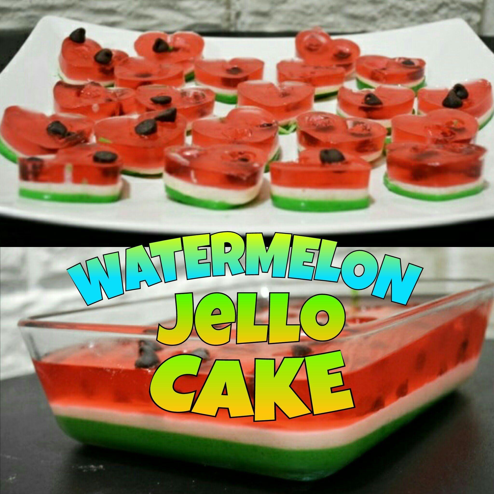 Easy Watermelon Jello Cake Recipe