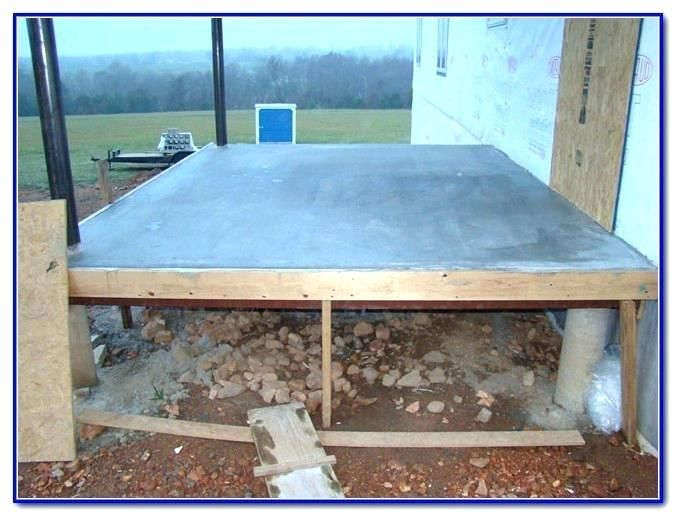 Raised Concrete Deck Elevated How To Build A Des Patio Designs Wood