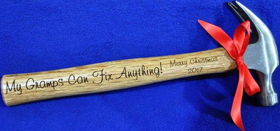 Christmas Gift For Grandpa Engraved Hammer Grandpa Gift | Christmas ...