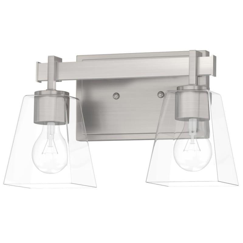Photo of Miseno ML5595VL Westbrook 2 Light 13″ Wide Bathroom Vanity Light Brushed Nickel Indoor Lighting Bathroom Fixtures Vanity Light