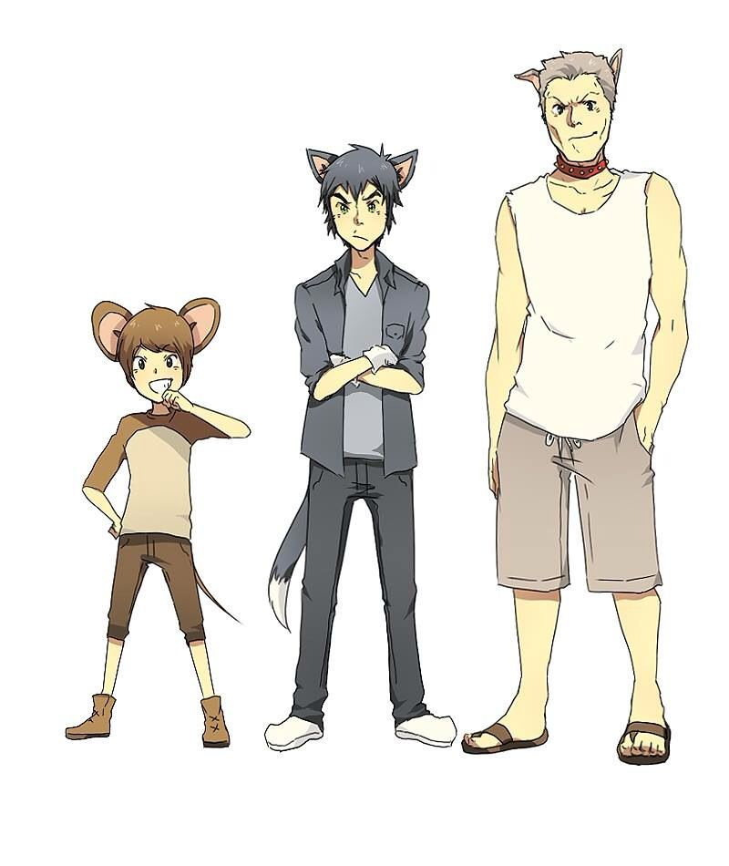 Tom and jerry and butch as humans from tom and jerry ...