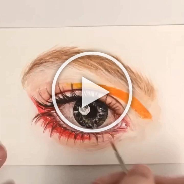 .  #art #artpage #eyemakeup #artistsoninstagram #artvideo #paintingvideo #arttutorial #drawing #painting #timelapseart #artvideos #eyepainting #eyedrawing #artvideos #aquarelle #eyedrawing #watercoloreye #realism #realisticart #howtodraw #makeupvideo #artistvideo #watercolorart #eyepaintings #eyepainting #eyes #watercoloring  #eyesketch #eyesdrawing #perriewinkles