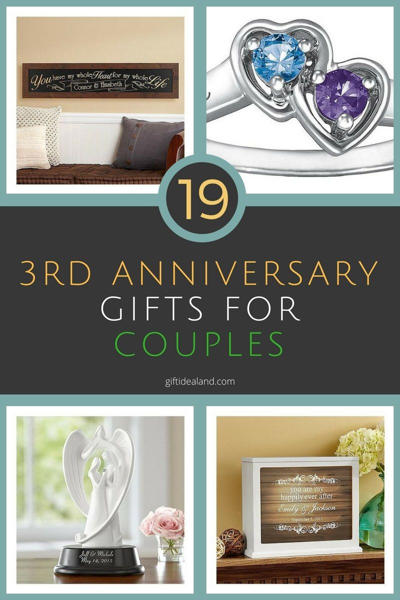 19 great 3rd wedding anniversary gift ideas for couples