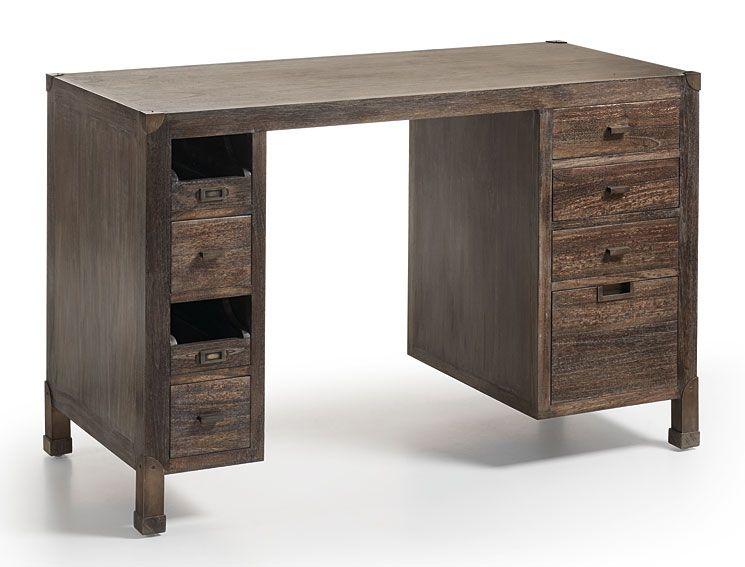 Escritorio de escritorio 8 cajones vintage industrial for Muebles industriales retro