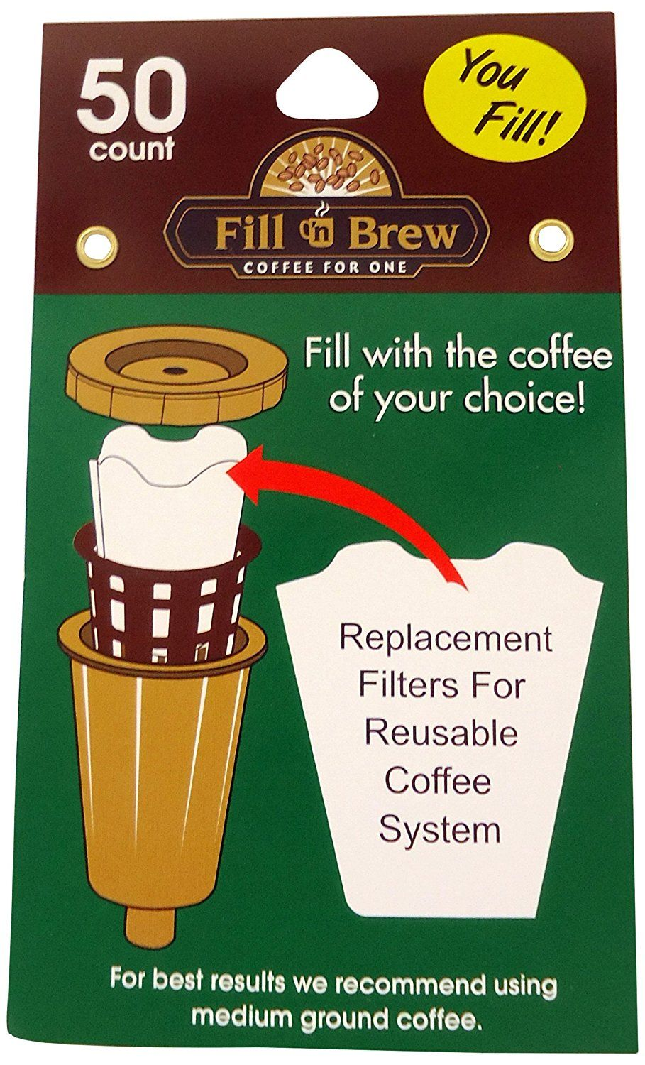 Economy kitchen accessory fill n brew kcup filters 50