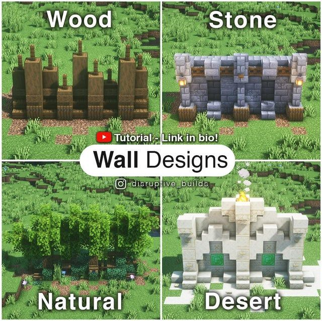4 Detailed Wall Designs with tutorial video