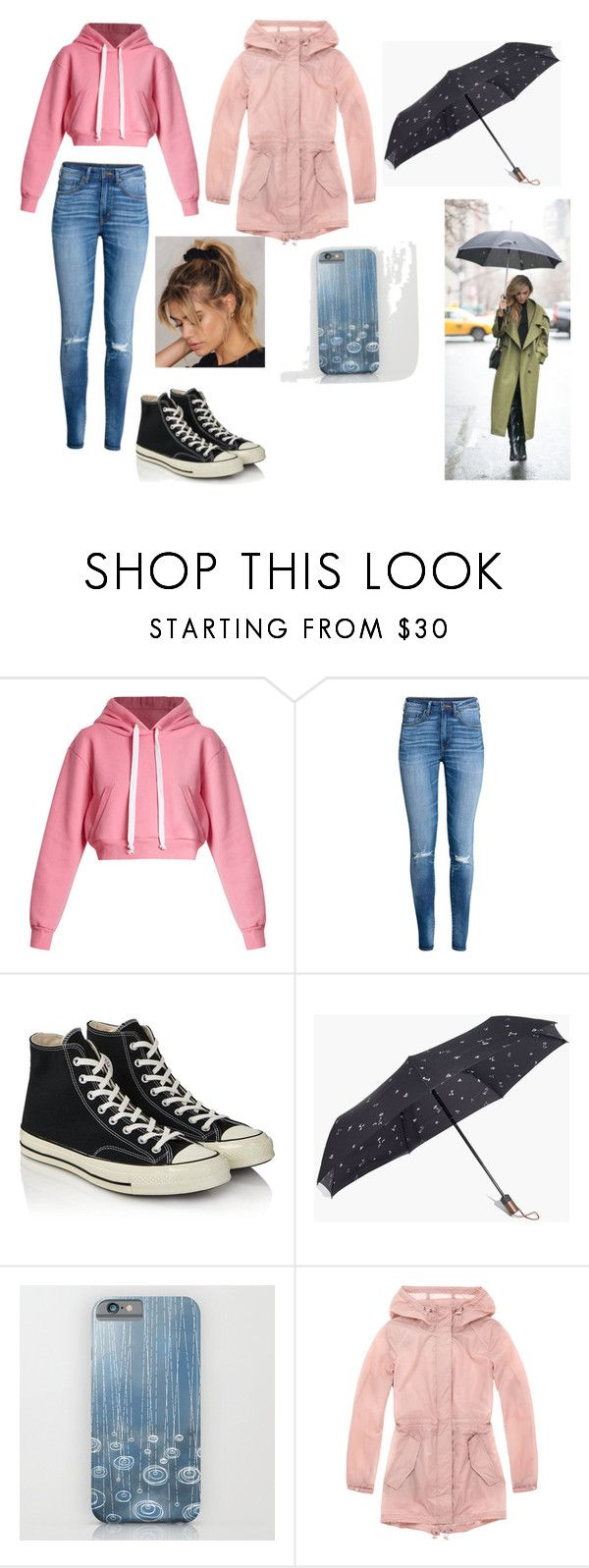 """Rainy day ☔️"" by ickyvicky724 ❤ liked on Polyvore featuring Natasha Zinko, H&M, Converse, Madewell and Marc New York"