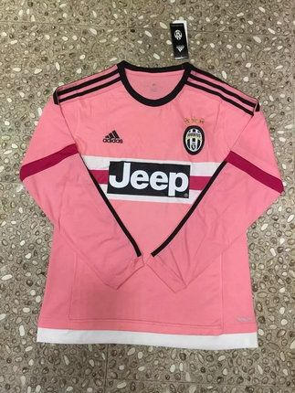 the latest d67d8 89777 2016-2017 Juventus Away Pink Long Sleeves Thailand Soccer ...