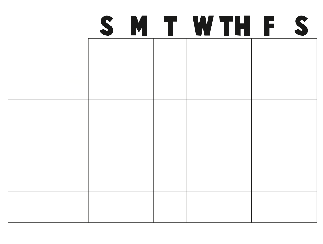 free printable blank charts or a blank chart you can fill in with
