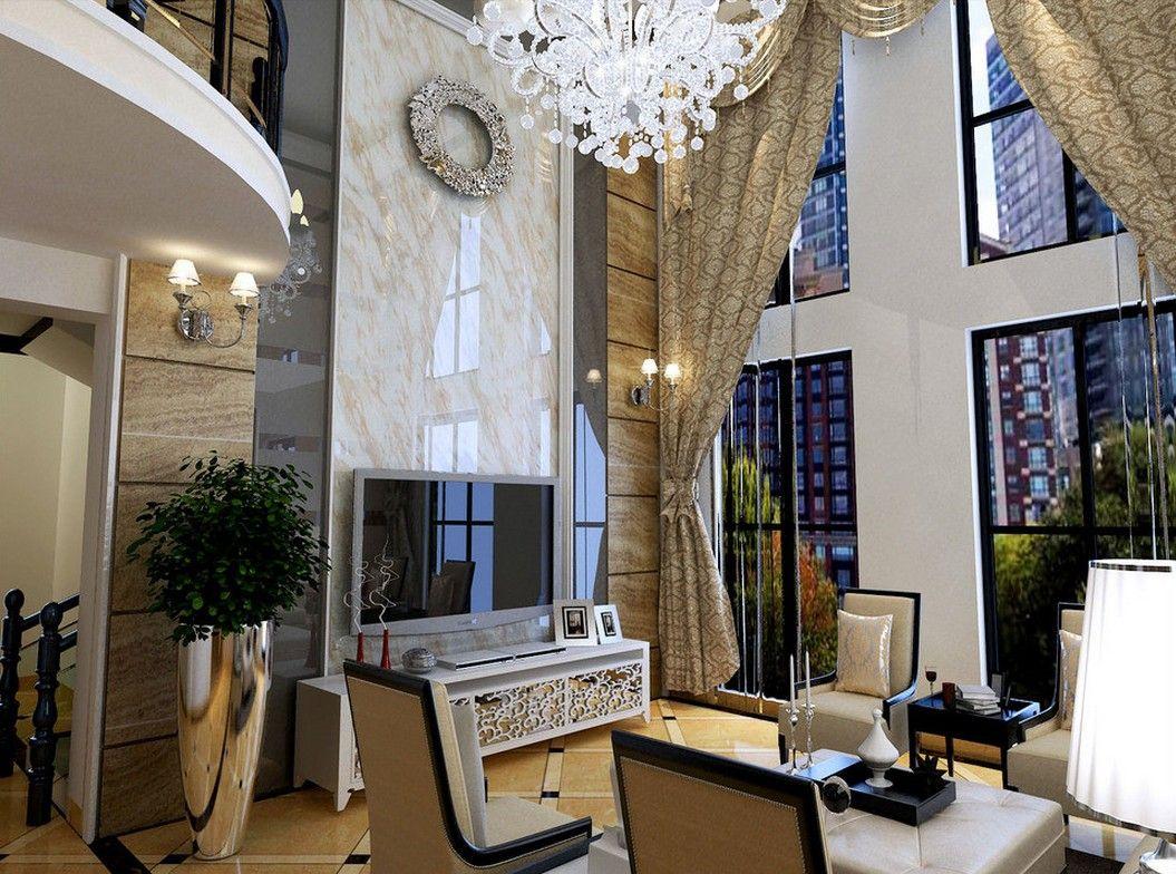 European villa living room interior decoration hd also elegant homes rh pinterest