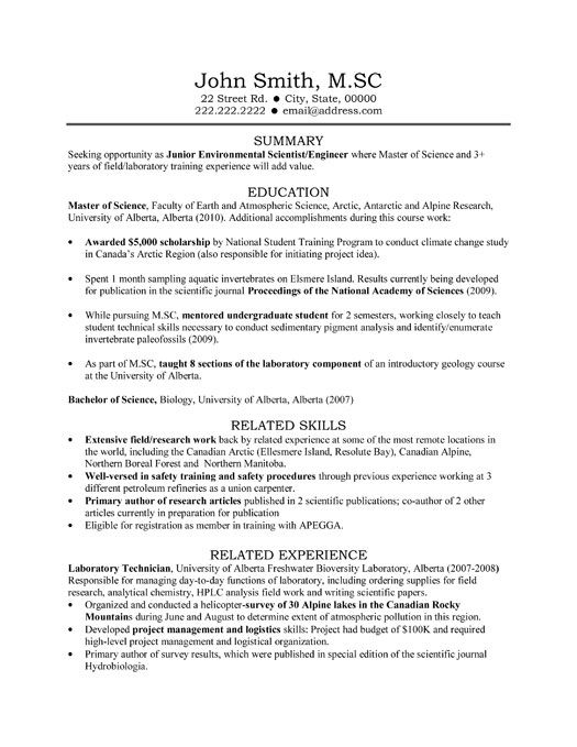 Medical Laboratory Assistant Resume Sample \u2013 Best Format