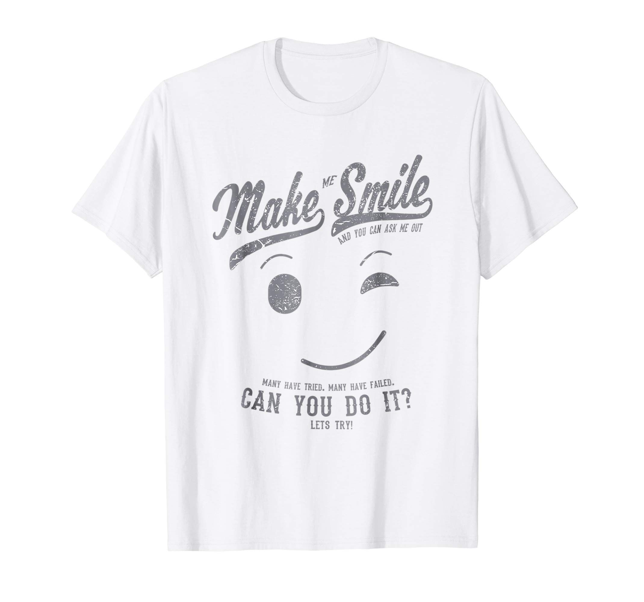 50 Unique Small Kitchen Ideas That You Ve Never Seen: Make Me Smile Standard White T-Shirt For Men (slate Print