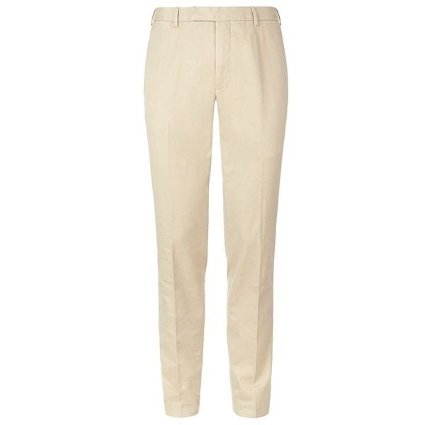 Polo Ralph Lauren Hudson Slim Fit Chinos ($165) ❤ liked on Polyvore featuring mens, men's clothing, men's pants and men's casual pants