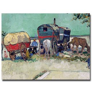 Vincent van Gogh, 'Gypsy Encampment, Arles, 1888' Canvas Art | Overstock.com Shopping - The Best Deals on Gallery Wrapped Canvas
