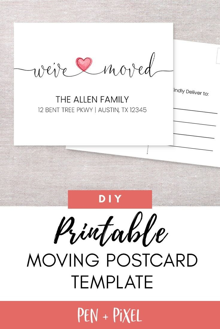 New Home Card Moving Announcement Moving Moving Postcard For Moving Home Cards Template 10 Profession Change Of Address Cards Address Card Postcard Template