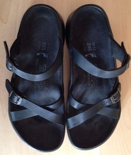 d2b11f88ad1 BIRKENSTOCK-TATAMI-Morgan-Womens-Shoes-Sz-7-38-Black-Birko-Flor-Slide- Sandals