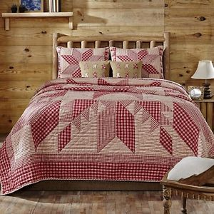 Red Star Quilt Set Bedding Sets Bed Bag Quilts King Queen Shams ...