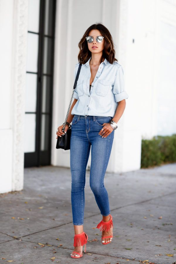 a366f9465c2 Here is a guide of how to wear high-waisted jeans  from Just The Design How  To Wear High-Waisted Jeans Given the hideous overtones that arise when you  think ...
