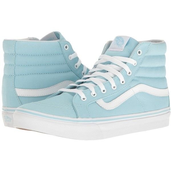 4e15340749d917 Vans SK8-Hi Slim (Crystal Blue True White) Skate Shoes ( 60) ❤ liked on  Polyvore featuring shoes