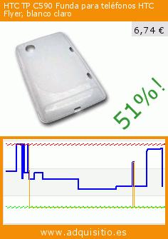 HTC TP C590 Funda para teléfonos HTC Flyer, blanco claro (Electrónica). Baja 51%! Precio actual 6,74 €, el precio anterior fue de 13,64 €. https://www.adquisitio.es/htc/tp-c590-funda-tel%C3%A9fonos