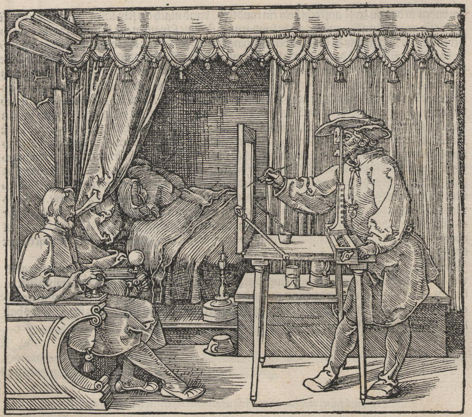"""""""A Drawing from Dürer's Textbook on Measuring"""""""