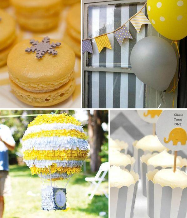 Ideas para una fiesta amarillo y gris en - Decoracion en amarillo ...