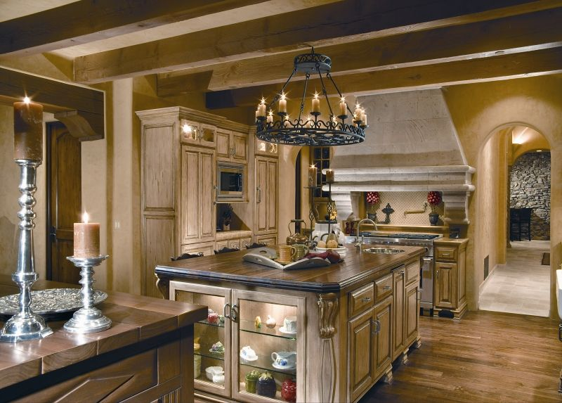 European Kitchen Custom Interior Design Ideas ~ Luxury mediterranean homes red rock custom