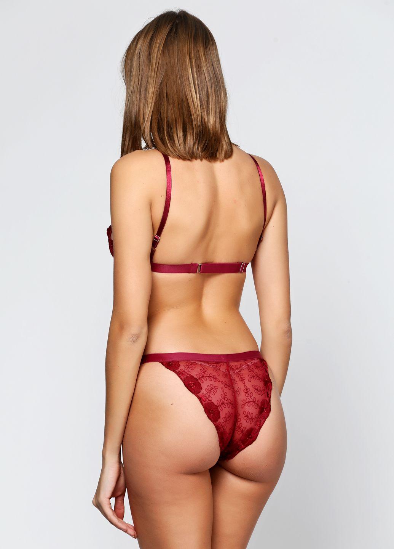 красное кружевное прозрачное белье